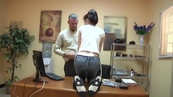 Fitted Blonde at Boss Office (part1)