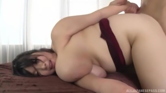 Shizuku Amayoshi is typically a toddler with large titties all set for a hard on