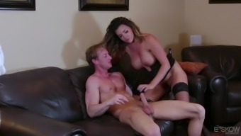 Gorgeous blonde Danica Dillon results in letting a chunk intake her clit before a fuck