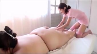 Japanese people BBW's Horny Rubdown