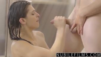 NubileFilms - Sizzling Bathe Love-making Along with Leah Gotti
