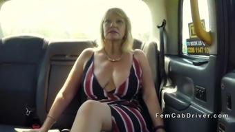 huge tits senior lesbian thrashing in taxi cab