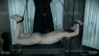 Wickedly warm girlfriend with big stunning titties has her mens person who serves tied up