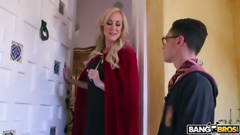 Brutally beautiful MILF Brandi Love would like to fuck this wizard