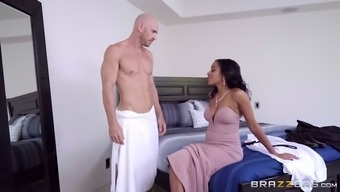 johnny sins exhibits his great hard on to anya ivy