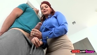 janet mason had him over from the barrier while you are she tapped his penis
