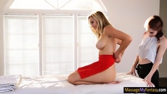 Act scholar Brett Rossi lesbosex with the use of masseuse Anna Deville