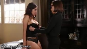 April O'Neil Punished by Lesbian Supervisor for Slutty Ensemble