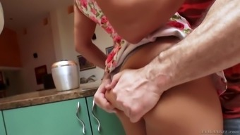 mia li gets her firm stupid ass worshipped in the kitchen