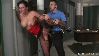 phoenix marie wearing stockings top sole getting chastisize from a standing position