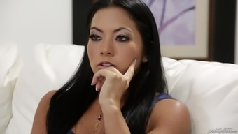Vast dick is all Morgan Lee likes to feel in their stormy pussy