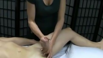 Massage therapy with joyful ending...