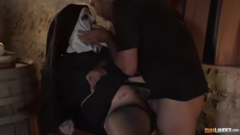 trickery fuck along with sexy but yet demonic nun silvia rubi