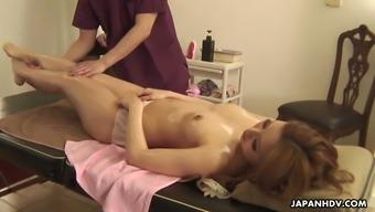 Amazing erotic massage session undertaken for oiled darling Headband Kujyo