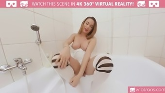ts vr porn-big titties ts masturbating and booty join the bath