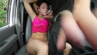 bang within the suv along with poor busy moaner rachael madori