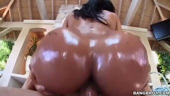 abby lee brazil gets oiled way up and then fucked open air