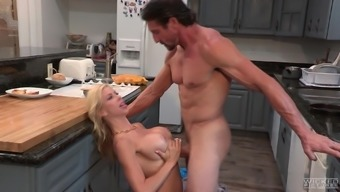 Alexis Fawx seduces a striking lump to produce a kitchen love-making appointment