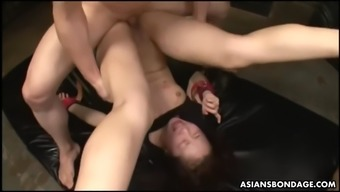 infrim ajajai mizushima gets fisted and pounded very difficult by her masters
