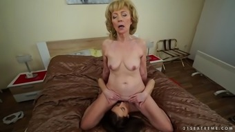 wild currency pair granny szuzanne enjoys katy rose's epic pussy