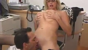Large Titted Mom back with her Boss...F70
