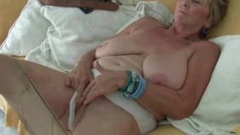 British granny Isabel gives fanny a goody