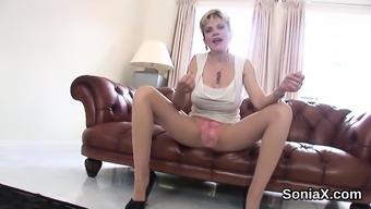 Adulterous in english senior female sonia exhibits her oversized mel