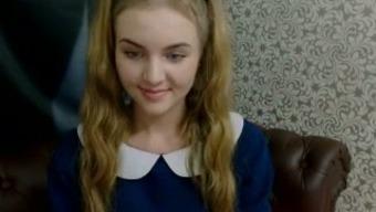 Delightful Czech teenager stripping teasingly on webcam