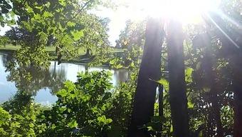 Public rectum on lakeside