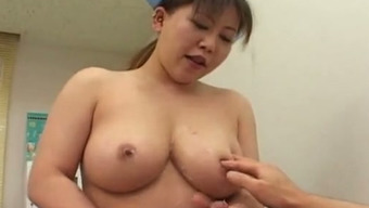 Busty Japanese people look after tells her affected person to have sex with the