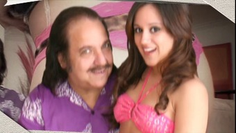 Ron Jeremy wants to fuck this horny little dim haired bones by using spry little titties