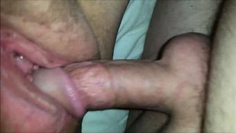 Plus-size woman having genital sexual intercourse - closeup Hi-def