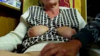 Grandpa masturbates his wife along with fingers
