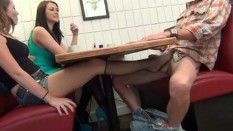 NOT Female offspring MAKESDAD Ejaculate Facing MUM With the use of FOOTJOB