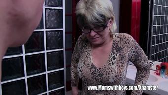 Gray Haired Stepmom Fucks Her Bath room Jerking Stepson