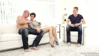 Brazen chicken Gabrielle Gucci is savoring the firm of two different bisexual guys