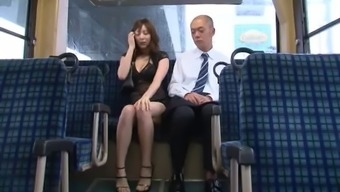 Sensual Japanese people hobo Yuma appear to her pussy drilled