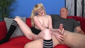 Pigtailed black is wanking hard drive data dick