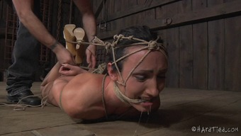 Scream as thrall infant pussy is mocked using things in BDSM