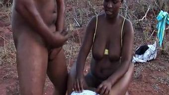 african-american sexual intercourse safari threesome orgy