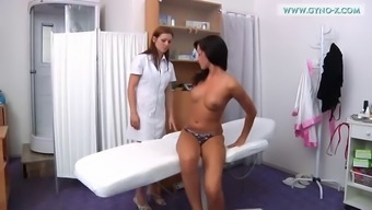 Horny clinician checks Tess' tense little animal based proteins pipes