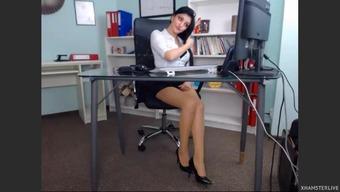 Beautiful krown in her own office