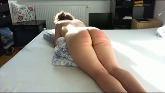 Wild passive big bottomed partner of my partner got her bum spanked