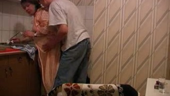 I was unable to fight to really fuck my wife's sizzling BBW granny in kitchenette