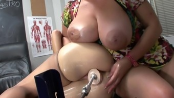 Redhead mum is becoming dildo in their puss