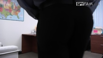 Step-Son Sexually Hurried By Step-Mom At Work