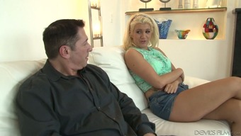 Cheap looking anus of Layla Costs is impaled on challenging dick
