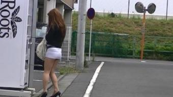 japanese people MILF undignified exposure in skirt high heels boulevard exhibition!