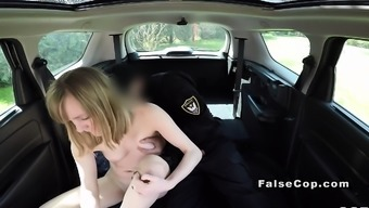 Countefeit the officer goes off black in his substantial auto