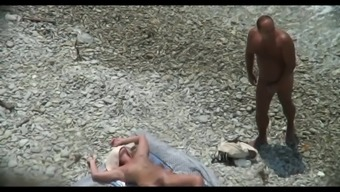Cuckold nasty person along at the seaside